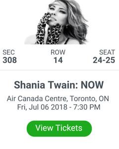 Shania Twain Tickets! Friday July 6th @ 7:30pm