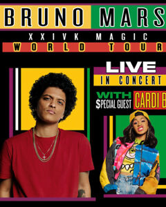 **BRUNO MARS floor aisle seats for sale**