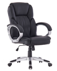 Brand New Angel High-Back Manager Leather Chair for Hom