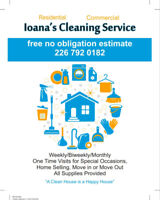 Residential and Commercial Cleaning Services (Cambridge + KW)