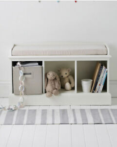 White Storage Bench 3 Cube