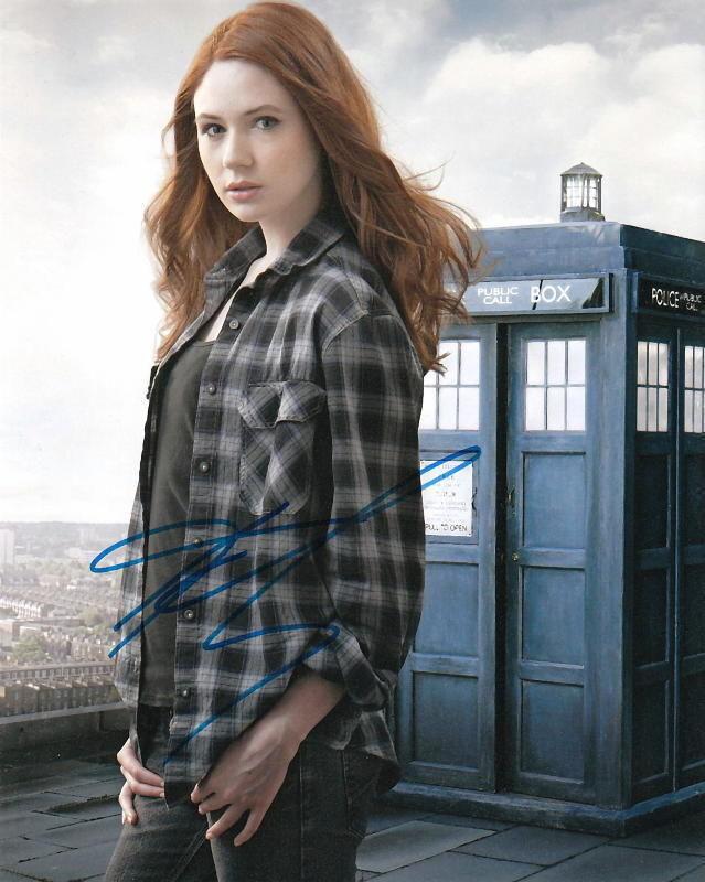 KAREN GILLAN.. Doctor Who's Alluring Actress - SIGNED