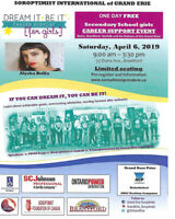 DREAM IT BE IT SECONDARY SCHOOL GIRLS CAREER SUPPORT EVENT