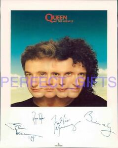 QUEEN-BAND-SIGNED-10X8-REPRO-PHOTO-PRINT-FREDDIE-MERCURY-BRIAN-MAY-ROGER-TAYLOR