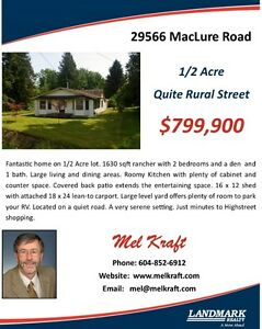Rancher on 1/2 Acre Lot
