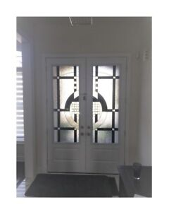 Stained GLASS inserts Wrought iron glass door glass inserts