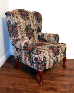 Perfect Tapestry Brocade Occassional Chair  SEE VIDEO