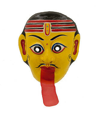 Mask Hat and Mitten Set Mahakali Dance Indra Jatra Festival Nepal Paper Mache