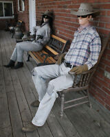 3 Vintage Mannequins with Western Boots Outfits and Accessories