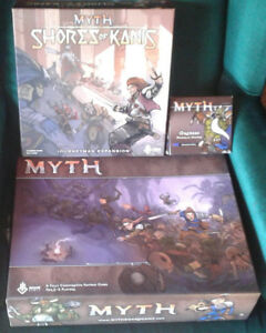 MYTH Board Game + Shores of Kanis + Myth 2.0 Expansion + Orcneas