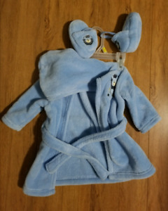 New baby boy bathrobe and slippers - Lion