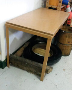 "Work Table   Steel and Wood 24 x 49 x 28"" reduced to $20"