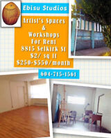 Art Studio Space Available