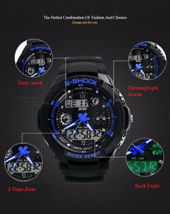 S-Shock Mens Military Watch For Men Sport Watch    2 Left