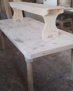 Harvest Table with Bench