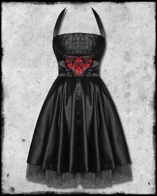 W Rockabilly Heart Goth Punk Prom Swing Dress (Goth Prom)