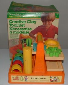 1982 Fisher Price CLAY TOOL SET Play-doh