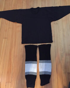 Black Practice Jersey & Socks Youth Small