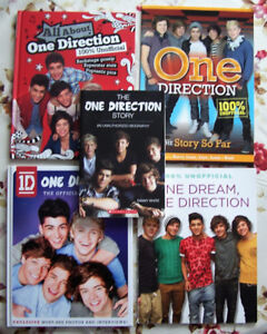 5 One Direction books, 1 DVD