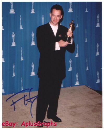 TOM HANKS.. with His Academy Award - SIGNED