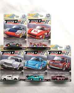 HOT WHEELS CAR CULTURE TRACK DAY REAL RIDERS  5 DIE CAST CARS