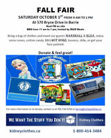 Volunteer for the Kidney Clothes' Fall Fair