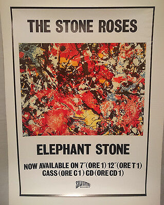 The STONE ROSES Original ELEPHANT STONE UK Promo POSTER 1988 NM Rolled