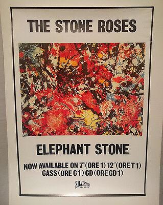 The STONE ROSES Original ELEPHANT STONE UK Promo POSTER 1988 NM Rolled