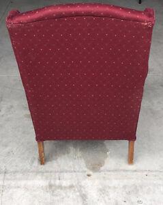Red Highback Armchair - $60 OBO Kitchener / Waterloo Kitchener Area image 4