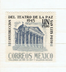 "MEXIQUE. TIMBRE ""SINGLE"" NEUF ""EL TEATRO DE LA PAZ"", 1945."