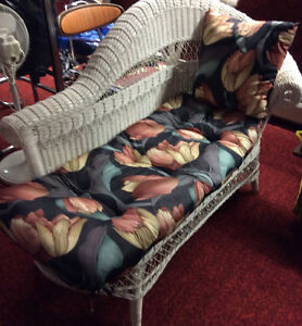 WICKER LOUNGER with cushions like new! $120 obo del avail