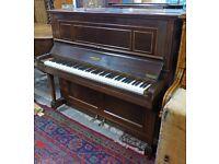 Understrung Upright Piano, Mahogany finish by Windover, London e20thC