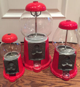 Gumball Machine All Metal with Glass Globes