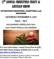 2nd Annual Christmas Craft & Artisan Show