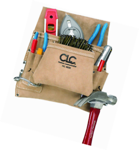 a46a81301 Custom Leathercraft I823X Suede Carpenter'S Nail And Tool Bag, 8 Pocket