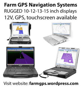 Farming GPS navigation systems - 10 12 13 15 inch displays