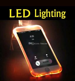 LED Flashing Shockproof Transparent TPU Case Cover iPhone 7G/8G NEW