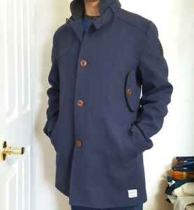 G-Star RAW • DECOY WOOL   GARBER TRENCH — (   Size Large )