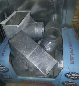 Large Assortment of  Furnace Ducting Pieces