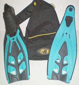 Body Glove Snap 4 Full Foot Diving Snorkelling Fins plus Bag