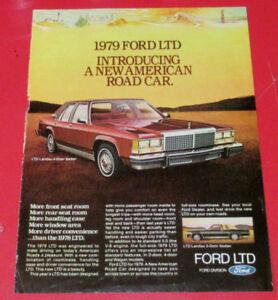 1979 FORD LTD LANDAU SEDAN VINTAGE CAR AD - ANONCE AUTO 70S