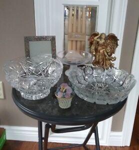 Angel/Candles/Picture Frame/Crystal Bowls/Floral Trinket Holder