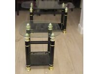 Glass Topped Coffee /Side tables