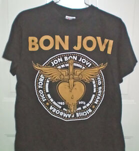 Bon Jovi NJ Concert DVD and 2 Double Sided Tee Shirts Set London Ontario image 2