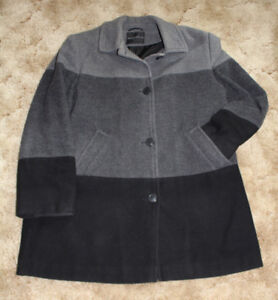 """BLACK AND GREY WOOL """"SEQUENCE"""" JACKET"""