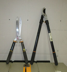 """Combo Two tools: Fiskars Hedge Trimmer Shears 9"""" + loppers"""