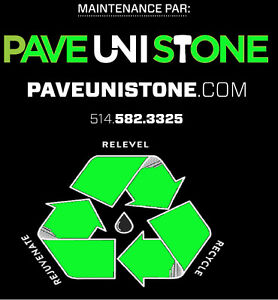 PAVE_UNI STONE - PAVER MAINTENANCE - HIGH PRESSURE CLEANING - West Island Greater Montréal image 1
