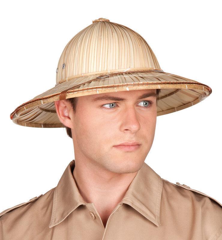 1d54f0e5 Ladies Mens Safari Jungle Explorer Pith Hat Fancy Dress Costume Outfit  Accessory