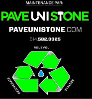 PAVE UNI STONE - 514-582-3325 - RE LEVEL & CLEANING + SEALING