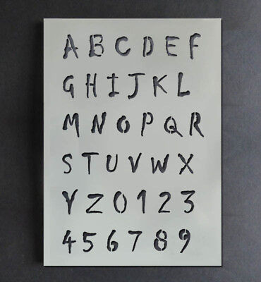 Halloween Horror Alphabet Stencil Letters Numbers Paint Customise Reusable